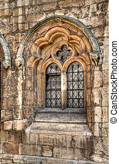 moyen-âge, lincoln, fenêtre
