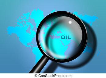 moyen-orient, huile