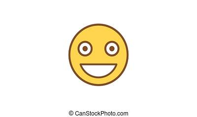 moyenne, emoticons., emoticon, sourire., canal, alpha, animé