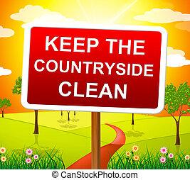 moyens, campagne, clair, garder, propre, primitif, paysage