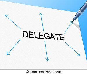 moyens, délégation, directeur, délégué, équipe, assigner