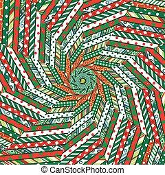 mozaïek, abstract, kerstmis, achtergrond