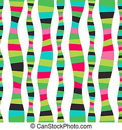 mozaïek, raster, achtergrond., kleurrijke, abstract, seamless, model, watermellon., achtergrond., helder, wavy gallon, golven, stripes., gestreepte , golf, hand-drawn, serpentine