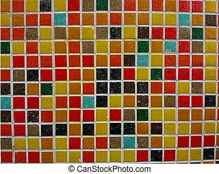 Gouden Mozaiek Tegels : Mozaïek tegels kleur bourgogne rood
