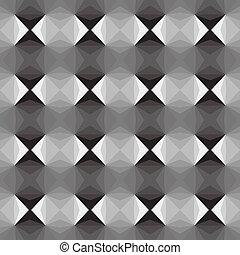 mozaic, optisch, black , effect, witte