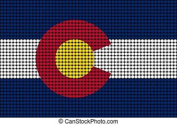 mozaika, bandera, od, kolorado