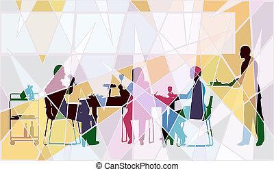 mozaika, restauracja