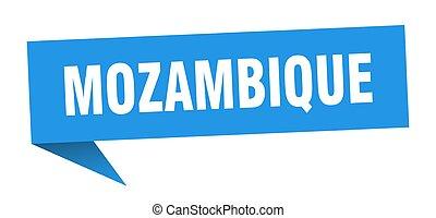 mozambique, azul, sticker., indicador, señal, poste...