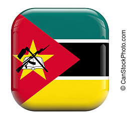 Mozambique flag isolated symbol icon.