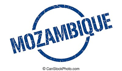 Mozambique stamp. Mozambique grunge round isolated sign