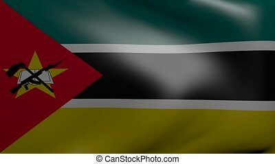 mozambique strong wind flag