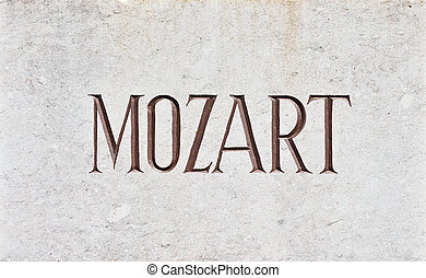 MOZART Letters - The name Mozart written in capital letters...