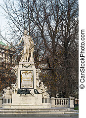 Mozart monument, Vienna - monument of Mozart is situated...