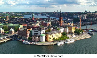 mozdulatlan, panoráma, közül, stockholm