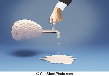 mozek, odpad, rukopis