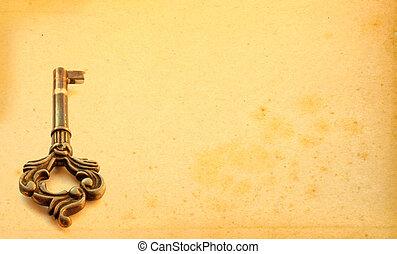 mozgató, idős, háttér, kulcs