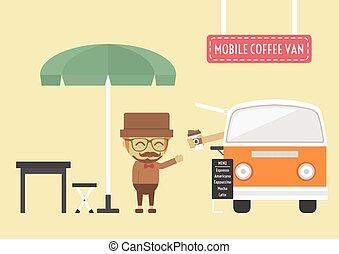 mozgatható, kávécserje
