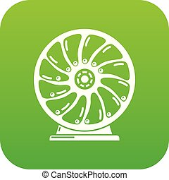 mozgatható, vektor, zöld, perpetuum, ikon