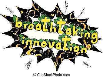 mozzafiato, -, libro, parole, innovazione, comico