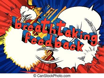 mozzafiato, parola, feedback, -, libro, comico