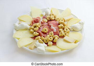 Mozzarella and cheese from Puglia