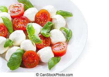 mozzarella, insalata