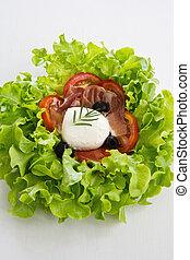 Mozzarella, Prosciutto salad