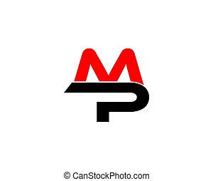 mp letter logo - is a symbol in the form of a combination of...