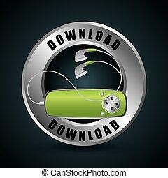 mp3 download design, vector illustration eps10 graphic