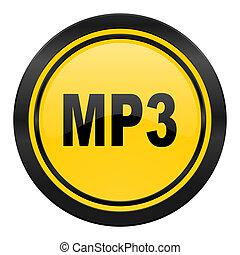 mp3 icon, yellow logo