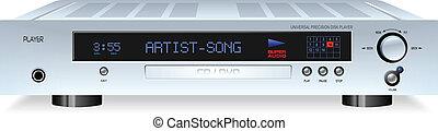 MP3 Music DVD Movie CD Media Player vector