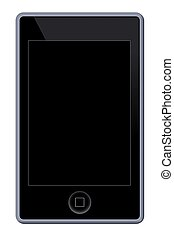 MP3 Phone Player - Illustration of a MP3 Phone Player on...