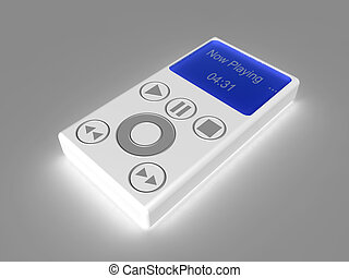 MP3 Player 1 - 3D rendering of an generic MP3 Hardware...