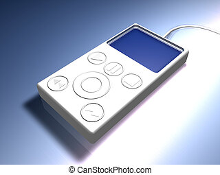 MP3 Player 2 - 3D rendering of an generic MP3 Hardware ...