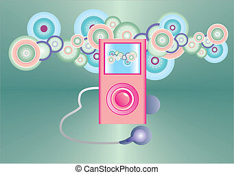 MP3 player and color painting