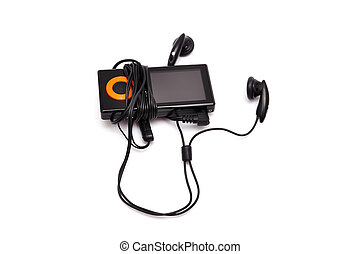 mp3 player black on a white background