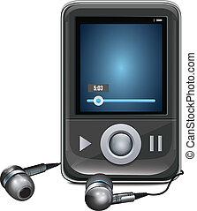 Mp3 Player With Mini Headphones