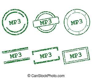 mp3, sellos