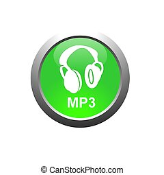 mp3 - This is a image of web button for web design.