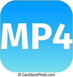 MP4 blue download icon
