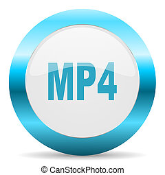 mp4 blue glossy icon