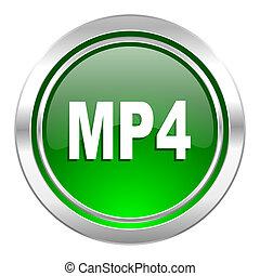 mp4 icon, green button
