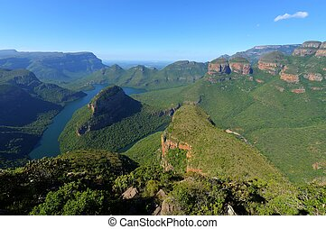 The Three Rondavels (Three Sisters) in the Blyde River Canyon. South Africa, Mpumalanga, Summer Scenics.