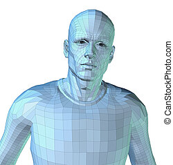 Mr Bionic - Computer Rendering of a man