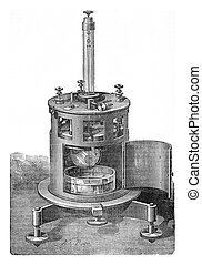 Mr. Mascart electrometer symmetrical, built by Mr. ...