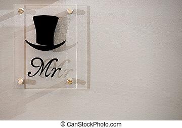 Mr. sign in natural light