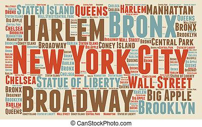 mračno, město, york, čerstvý, vzkaz
