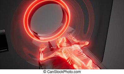 MRI examination medical footage