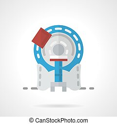 MRI machine flat vector icon