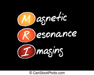 MRI - Magnetic Resonance Imaging, acronym health concept background